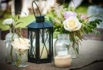 lantern and flowers