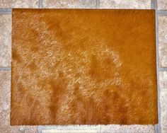 "Hair On Leather 8""x10"" Flawed HAZELNUT / Burnt Sienna / Tobacco reddish brown HOH #17 / 2 Cowhide PeggySueAlso?"