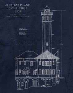 Split rock lighthouse architectural blueprint art print duluth split rock lighthouse architectural blueprint art print duluth minnesota two harbors lighthouse elevation light station nautical decor split rock malvernweather Choice Image