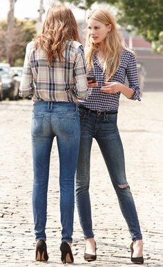 Autumn Trend: Plaid Shirt & Jeans