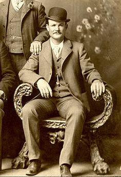 Robert Leroy Parker (April 13, 1866 - November 7, 1908), better known as Butch Cassidy,[1] was a notorious American train robber, bank robber, and leader of the Wild Bunch Gang in the American Old West. After pursuing a career in crime for several years in the United States, the pressures of being pursued, notably by the Pinkerton Detective Agency, forced him to flee with an accomplice, Harry Alonzo Longabaugh, known as the Sundance Kid, and Longabaugh's girlfriend, E