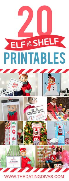 Printables to use with Elf on the Shelf. I love that they're all in one place!