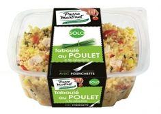 Taboulé au poulet Pierre Martinet :   Parce que repas sur le pouce peut rimer avec équilibre et saveurs, Pierre Martinet propose un savoureux taboulé au poulet associant des féculents, des légumes et des protéines. très bon ! Appréciation : ++