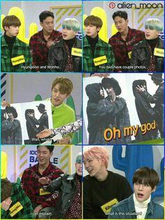 Jooheon, Kihyun, Monsta X Hyungwon, Shownu, Funny Kpop Memes, Stupid Memes, Monsta X Funny, Fandom Kpop, Won Ho