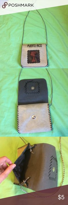 Beautiful Puerto Rico handbag/souvenir NWOT. Perfect for when you don't want to wear a purse. Never been used Bags Crossbody Bags