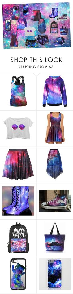 """""""Be One With The Galaxy"""" by pinkynela-vanilla on Polyvore featuring WithChic, HVBAO and Casetify"""