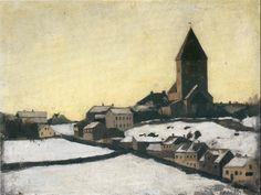 Old Aker Church 1881. Edward Munch (1863-1944)