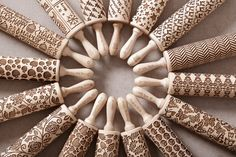 For a baker, a rolling pin is a valuable piece of kitchenware, but thanks to the Etsy shop Mood for Wood, it's also a quirky art tool. The Warsaw-base Sugar Lace, Clay Stamps, Quirky Art, Baking Tools, Baking Gadgets, No Bake Cookies, Apple Cookies, Kitchen Items, Kitchen Wood