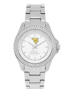 West Virginia Mountaineers Women's Glitz Sport Bracelet Watch