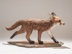 I was contacted recently by a client who had a beautiful sketch of a fox cub and she wanted to commissioned me to bring it to life in sculpture. The fox cub sketch was only one view so using my. Sculptures Céramiques, Art Sculpture, Paper Mache Animals, Ceramic Animals, Pottery Animals, Beautiful Sketches, Indian Artist, Wild Dogs, Cute Fox