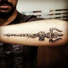 God Tattoo, Trishul Tattoo, Shiv Tattoo.