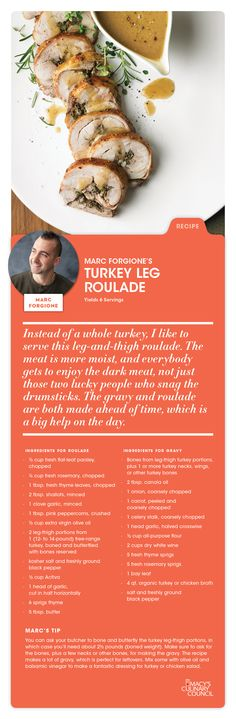 Macy's Culinary Council Chef Marc Forgione's Turkey Leg Roulade