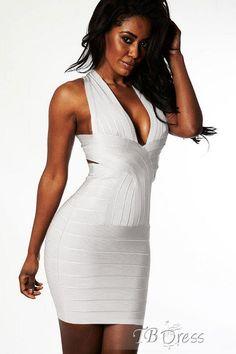 Gorgeous Latest White Cross Back Bandage Dress : Tbdress.com