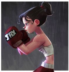 I've been working a lot latelly and is being hard to keep my social stuff up. But here goes some boxing girl to kick your ass. I wish a had this girl's guns. Hehe - Learn how I made it to in one months with e-commerce! Character Concept, Character Art, Boxe Fight, Desenho New School, Arte Black, Character Design Cartoon, Creation Art, Women Boxing, Female Boxing