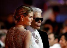 """Karl Lagerfeld: """"Ich kenne sie nicht"""", antwortet Karl Lagerfeld, nachdem Johannes B. Kerner in seiner Talkshow den Namen Heidi Klum ausgesprochen hatte. ..."""