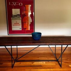 The 'industrialist' dining table. Custom make your own.