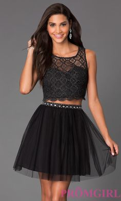 6 Stunning Homecoming Dresses Under $100: PromGirl Short Sleeveless Two Piece Dress
