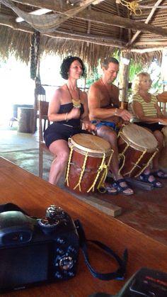 Drumming - Lebeha Drum Centre - Hopkins Belize - ask for Warren!
