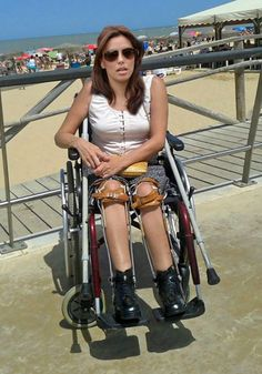 paralyzed woman in braces
