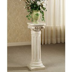 White White Columns From Hobby Lobby Wedding Decor