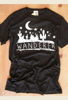 wanderer black unisex tee $24