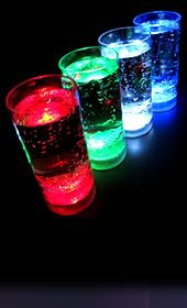 Light Up Tumbler Glasses - Solid Colors