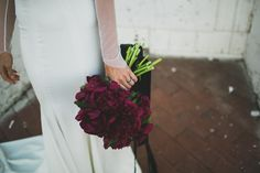 Wine Red Wedding Bouquet. Simple & Elegant. http://laceandlikes.com/2015/05/08/tiffandre/