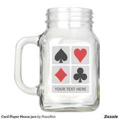 Card Player Mason jars Mason Jar