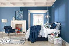 Find bold colors for the perfect bedroom.