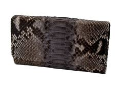Women's wallet genuine python bk color rock-grey