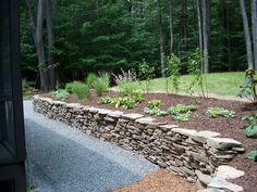 Natural stone wall.
