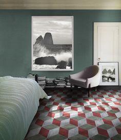 Lastre in Grès: Playone by www.dsgceramiche.it  Ambientazione camera da letto.