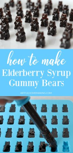 Elderberry Syrup Gummies Recipe is a simple way to make your own elderberry gummy bears! via @Joie7