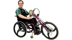 wheelchair bikes  speedy bikes produces very special bikes designed to extend the function of wheelchairs. the company  offers a range of wheelchair accessories that turn any wheelchair into a bicycle. their designs simply attach onto regular wheelchairs and provide a method to propulsion through either foot pedals or hand pedals. but if pedaling around is too much trouble, they even have a device that transforms the wheelchair into an  electric bike.