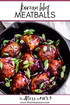 These Korean BBQ Meatballs are packed full of sweet and spicy flavors, are super moist, and easy to make! Serve them with my amazing Sheet Pan Fried Rice, or add them to your favorite Lettuce Wraps. Korean Bbq Meatballs, Korean Barbeque, Korean Bbq Sauce, Asian Turkey Meatballs, Beef Recipes, Meatball Recipes, Korean Recipes, Retro Recipes, Skillet Recipes