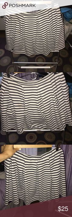Blue and white striped skirt American eagle outfitters blue and white striped mini skirt - thick and stretchy American Eagle Outfitters Skirts Mini