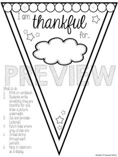 Thankful Pennant Display {A Thanksgiving Class Activity} $