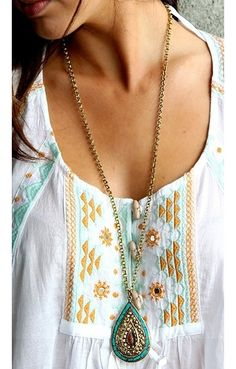 Turquiose and Coral Necklace