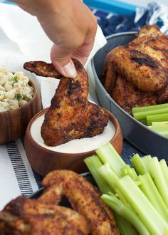 Grilled Old Bay Chicken Wings - The Suburban Soapbox - Easy Grilled Chicken Wings tossed in a spicy Old Bay seasoning…the best wing recipe ever from The - Grilled Chicken Wings, Grilled Chicken Recipes, Chicken Wing Recipes, Teriyaki Chicken, Grilled Meat, Grilled Steaks, Bbq Chicken Wings, Garlic Chicken, Fried Chicken