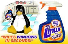 Tux limpia Windows 'en segundos'...:)