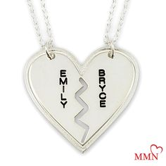 Now 20% OFF - Breakable Heart Necklace - Sterling Silver Heart. #hearts #necklace #silver #valentines #gift