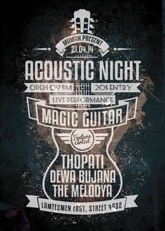 Acoustic Typography Flyer/Poster Vol.3 on Behance
