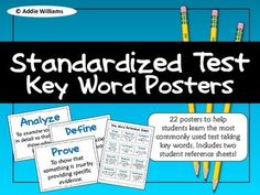 Standardized Test Prep - help your students learn and review common key words found on tests. ($)