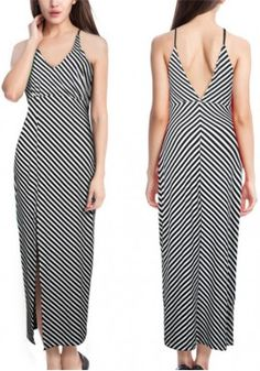 New Arrival Eby Fashion New Striped Strap Dress