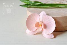 Peach Orchid Hair clip Peach wedding hair accessories Summer