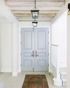 Door color is Benjamin Moore Cape May Cobblestone