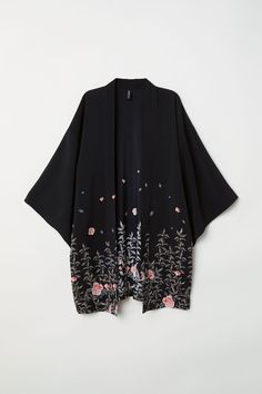 Kimono with Printed Design - Black/flowers - Ladies Casual Hijab Outfit, Cute Casual Outfits, Pretty Outfits, Hijab Dress, Diy Fashion, Ideias Fashion, Fashion Outfits, Stylish Dresses, Casual Dresses