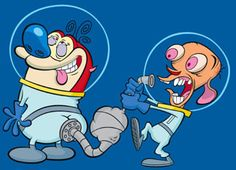 Image result for ren and stimpy electric fence