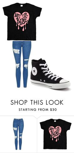 """""""Untitled #183"""" by cruciangyul on Polyvore featuring Topshop and Converse"""