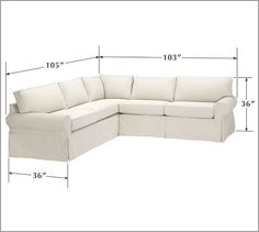 PB Basic Slipcovered 2-Piece L-Shaped Sectional | Pottery Barn